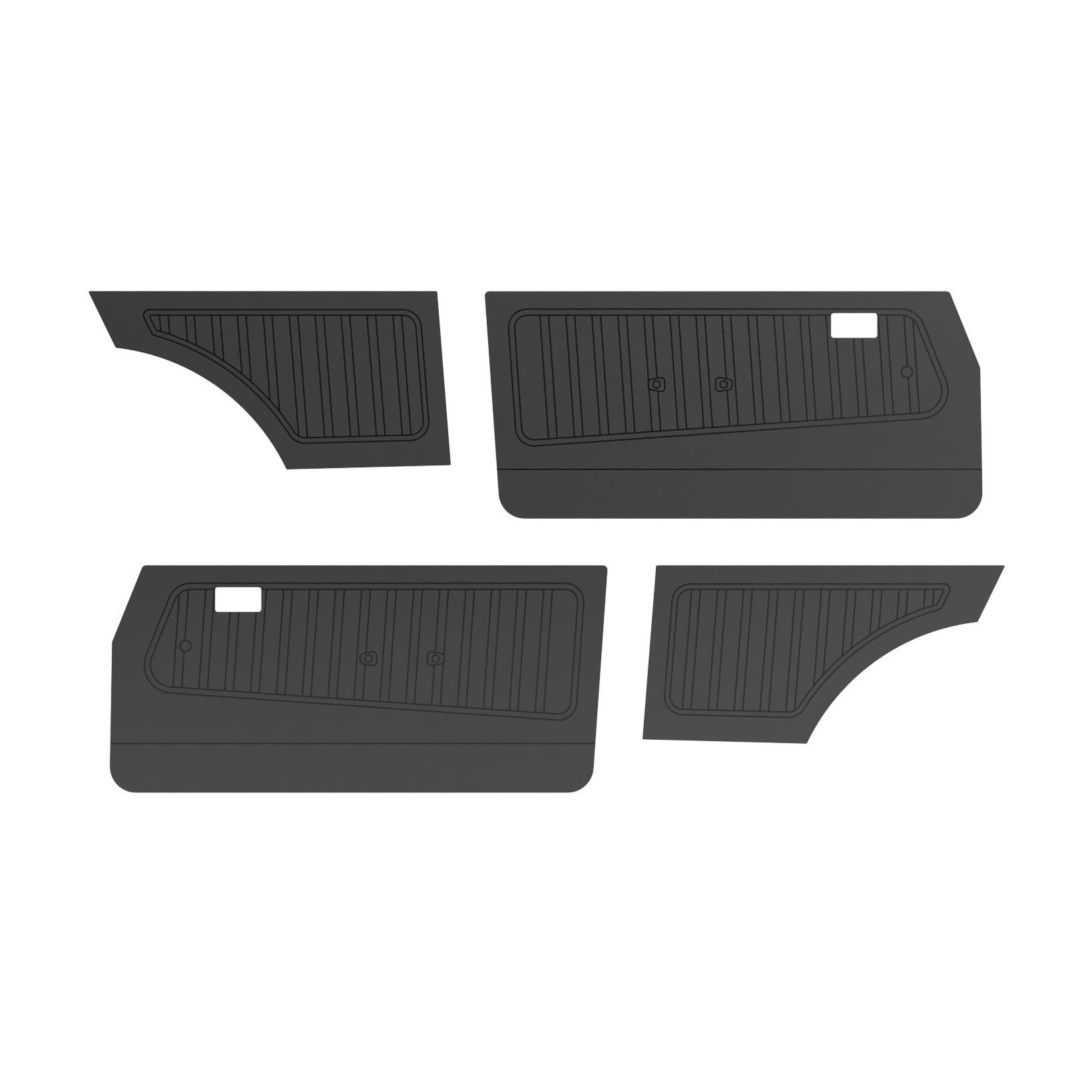 PAIR OF FORD ESCORT MK2 STANDARD FRONT DOOR PANELS BLAC